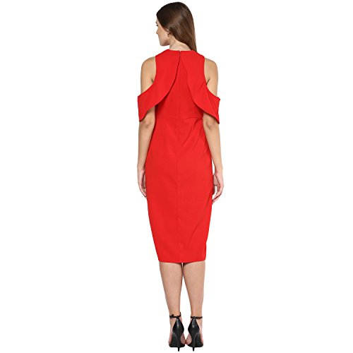 Femella Fashion's Red Wiggle Midi Dress (DS-341308-1400-RED-M )