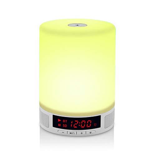 Bluetooth-Lautsprecherlampe, Bluetooth-Nachtlicht-Funklautsprecher mit farbwechselndem LED-Stimmungslicht, TF-Karte mit AUX-In-Freisprecheinrichtung zum Schlafen, Lesen, Camping