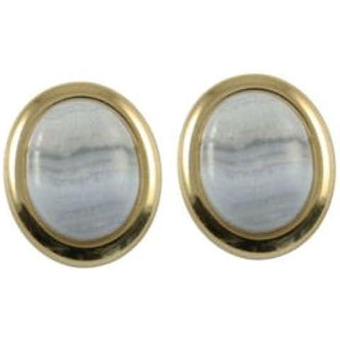 Minuet Blu Pizzo Agata pietre oro orecchini con confezione regalo