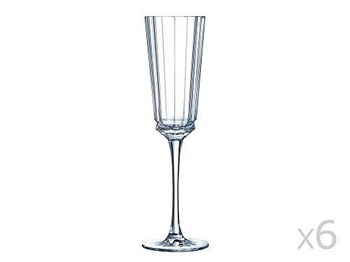 CRISTAL D'ARQUES 7501613 Bte de 6 Flutes 17 CL, Cristallin, Transparent, 23,1 x 15,6 x 24,4 cm