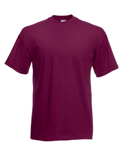 Fruit of the Loom T-Shirt S-XXXL in verschiedenen Farben M,Burgund