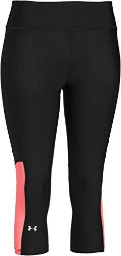 Under Armour, Pantaloncini sportivi da fitness Donna HG Alpha Power Capri, Nero (Black), XS
