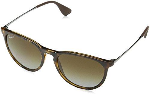 Rayban Unisex Sonnenbrille Erika Mehrfarbig (Gestell: Havana/Gunmetal, Gläser: Polarized Braun Verlauf 710/T5)), Large (Herstellergröße: 54)