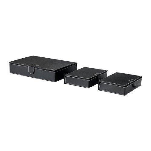 IKEA RISSLA -Box -Datei Satz 3 schwarz