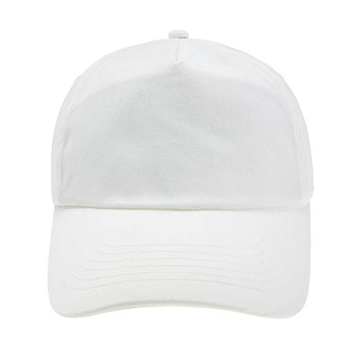 4sold Junior Original 5 Panel Cap Unisex Jungen Mädchen Mütze Baseball Cap Hut Kinder Kappe (White)