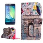 Alcoa Prime Abstract Building Pattern Horizontal Flip Leather Case with Holder Card Slots Wallet for Samsung Galaxy A5 / A500F