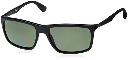 Ray Ban Unisex Sonnenbrille RB4228 Gestell: Schwarz, Gläser: Polarized Grün Klassisch 601/9A), Large (Herstellergröße: 58)