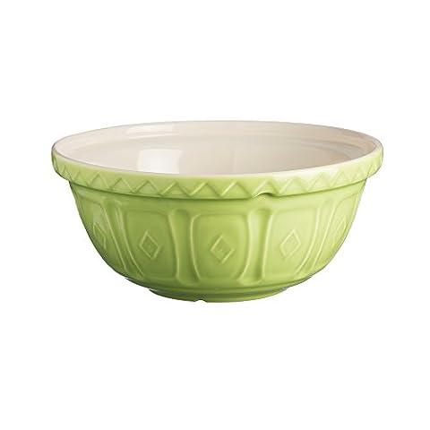 Mason Cash colour Mix Bright Green S24 Chip Resistant Earthenware 24cm Mixing Bowl