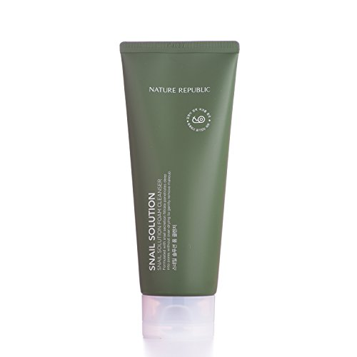 Nature Republic Snail Solution Foam Cleanser, 150 Gram - Aloe Vera Cleanser