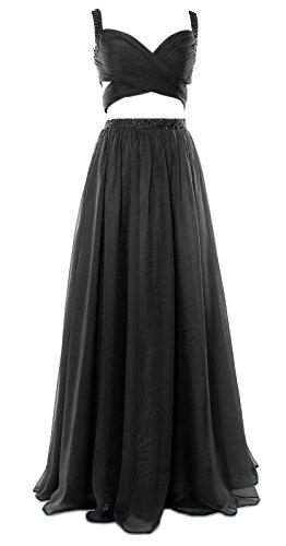 MACloth - Robe - Ajourée - Sans Manche - Femme Noir - Noir