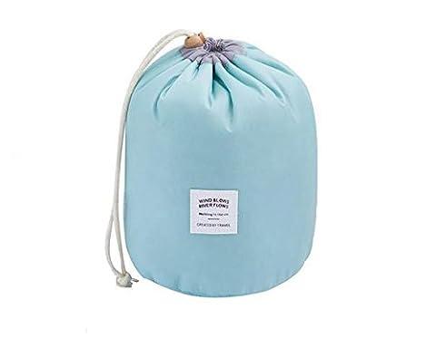 Hippolo Wasserdichte Make-up-Tasche Reise-Kit Organizer Badezimmer-Aufbewahrung Kosmetiktasche Tragetasche Kulturbeutel (Himmelblau)
