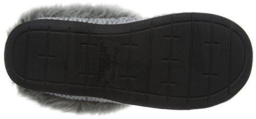 Dearfoams - Chunky Novelty Knit Clog With Memorry Foam, Pantofole Donna Grigio (Light Heather Grey 00071)