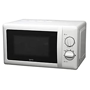 Igenix IG2071 Solo Manual Microwave, 5 Power Levels and Defrost Function, 30 Minute Timer, 700 W, 20 Litre, White