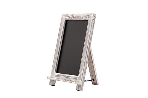 Rustikale weiß getünchte Kreidetafel / Tafel mit Aufsteller, gerahmt dekorative Tafel - ideal für Küche Dekor, Hochzeiten, Restaurant Menüs ()