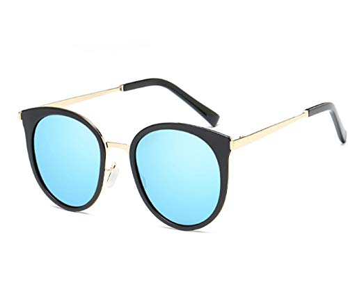 CFLFDC Sonnenbrillen Frauenshade Hut Brille Klassische Designerin Sonnenbrille Mode Stil Polarisiert Black Frame Ice Blue film