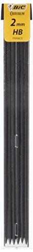 Bic Conte Paquete de 6 Lápiz Conductores de 2 mm Hi-Polymer de alta calidad HB Conjunto de 12