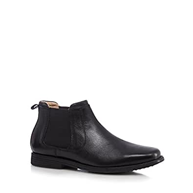 henley comfort black leather chelsea boots amazon co uk