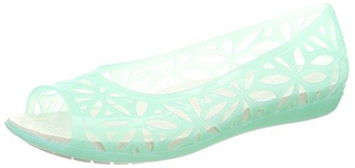crocs Isabella Jelly II Flat Women, Damen Sandalen, Blau (New Mint/Oyster), 38/39 - Jelly-schuhe Frauen