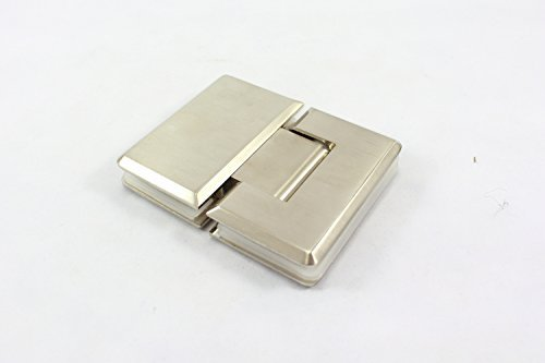 Stainless Steel 180 Degree Shower Hinge Door Bracket - Polished Satin Nickel Fin by Di Vapor
