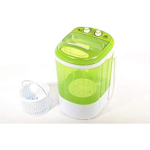 DMR 2.5 kg Inverter Portable Semi Automatic Top-Loading Mini Washing Machine with Dryer Basket (DMR 25-1208, Green)