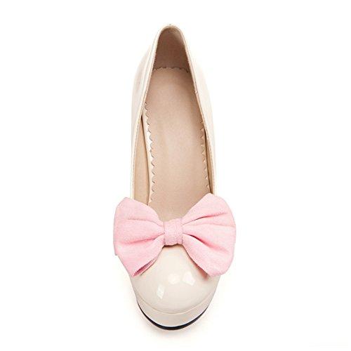 Adee Femme romantique polyuréthane Pompes Chaussures Rose - rose