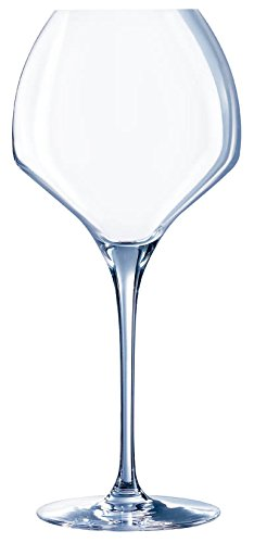 Chef & Sommelier 8011785 Open Up Kwarx Lot de 6 Verres à Pied Soft de Contenance Verre Transparent 10 x 10 x 23 cm 47 cl