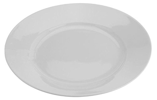 Teller Speiseteller Suppenteller Dessertteller Porzellan Weiß 6 Stück Modellauswahl, Modell:19 cm Ø Teller flach