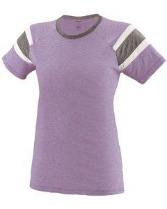 Augusta Sportswear Girls Fanatic Tee M Lavender/Slate/White -