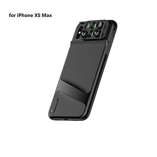 LJ2 6 in 1 Telefon Objektivdeckel Fall, Weitwinkel Telefon Kamera Objektiv Fisheye Tele Makro Kamera Objektiv für iPhone XR XS XS max,iphonemax (Kamera Len Fall Iphone)