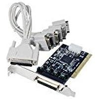 Longshine LCS-6024P tarjeta y adaptador de interfaz - Accesorio (PCI, De serie, RS-232, 128B, Negro, Gris, 230400bps)