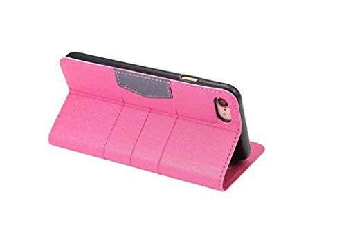 Hülle für iPhone 7 plus , Schutzhülle Für IPhone 7 Plus gemischte Farben glänzende funkelt Muster Magnetische Verschluss PU-lederne Kasten-Abdeckung mit Kickstand u. Kartenschlitz ,hülle für iPhone 7  Rose