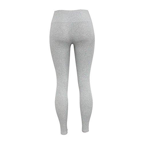Soft sports yoga confortable coton serré super pop-sous-vêtements de couleur pure-Jouer Grey