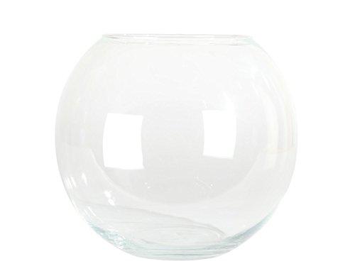 meindekoartikel - Kugelvase Glasvase Blumenvase Höhe 10 cm - Ø 12 cm