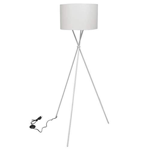 vidaXL Stehlampe mit Ständer Weiß 139 cm