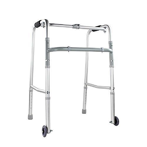 Telaio Mobile Per Anziani   Deambulatore Pieghevole Con 2 Ruote   Ausilio Per La Mobilità Per Disabili   Altezza Regolabile Presa Confortevole
