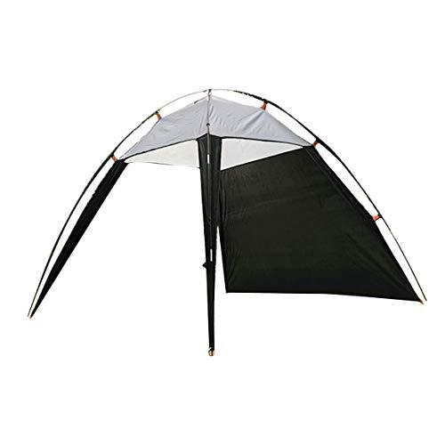 JohnJohnsen Style coréen Tente Triangle Ombre extérieur Tente légère Plage imperméable Mer Loisirs Triangle Cample Tente (Noir et Gris)