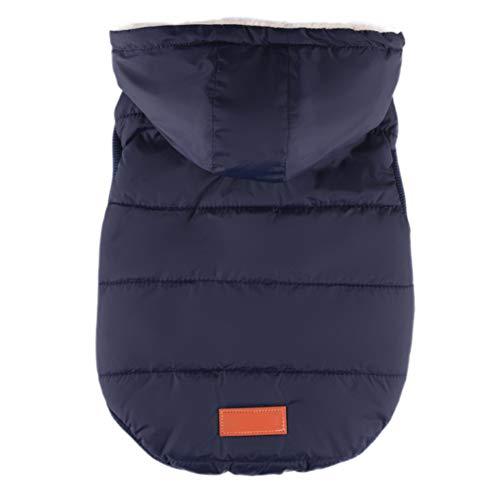 (Etophigh Jacke mit Kapuze, ärmellos, für Kleine Hunde, Mantel für Hunde, Welpen, Jacke, warm, Winter (XS M L XL))