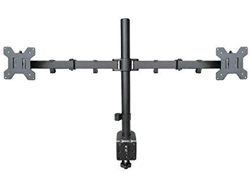 Supporto da Tavolo per 2x Monitor - 19 20 21 22 24 26 27 28 29 Pollici - LED LCD Plasma HD 3D Tv (compatibile con SAMSUNG SHARP SONY LG HISENSE DYON TCL VESA 75x75 100x100) Modello: LT5s