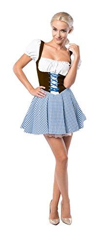 Tannhäuser 2662469 Dirndl Eva Kostüm, Braun/blau, -