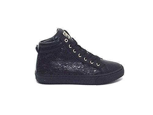 Sneakers bambina Liu jo ecopelle paillettes, nero nr 34 A6102