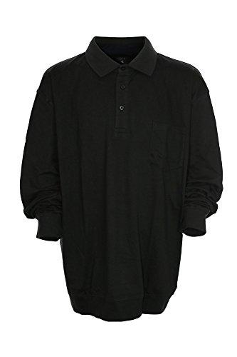 Kitaro Polo Poloshirt Polosweat Herren Kurzarm Übergröße Plusgröße Dunkelgrau