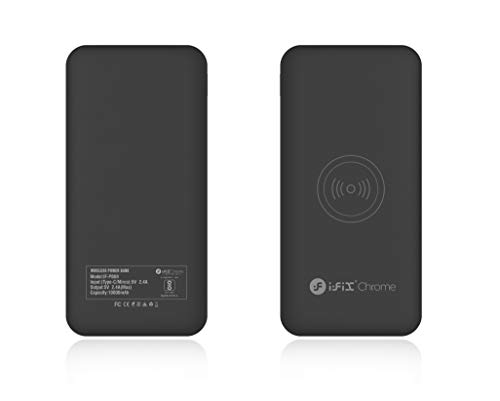 i-FiX Chrome 10000 Mah Wireless Power Bank with 2.4A Fast Charging Dual Ports with Type-C and Micro USB Charging Image 6