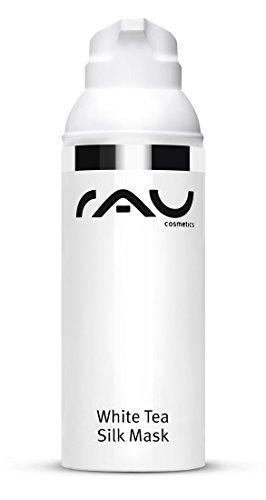 RAU Cosmetics RAU White Tea Silk Mask (1 x 50 ml), Beruhigende & regenerierende Gesichtsmaske mit Seidenproteinen, Weißem Tee, Panthenol & Sheabutter - für trockene und sensible Haut