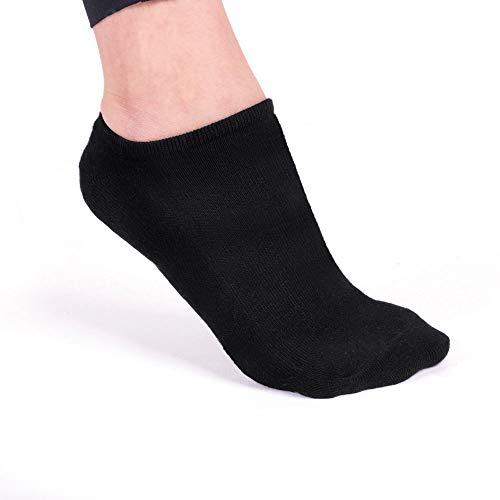 Füßlinge aus Bambus. Sportsocken. Outdoorsocken. Unsichtbare Socken für Damen und Herren (4 Paar) (Schwarz) Bambus Slip