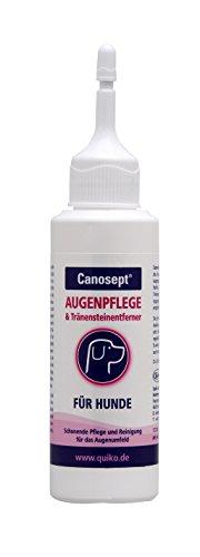 Canosept Augenpflege für Hunde - Pflege- und Reinigungsmittel für den Bereich ums Auge & Tränensteinentferner - 1 x 120 ml