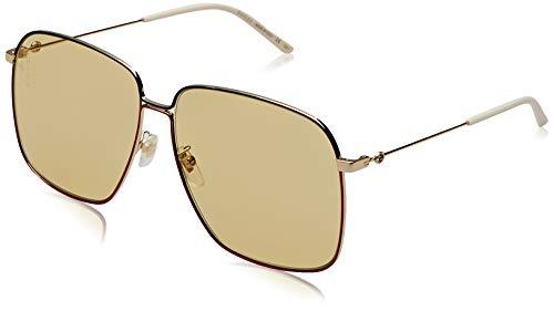 Gucci gg0394s-005 occhiali da sole, blu (azul/rojo/dorado), 61.0 unisex-adulto