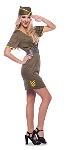 Folat 21940 Sexy Armee Kostüm 3 Stück-Frauen MT L-XL (Armee Kostüme Für Frauen)