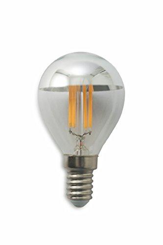 Kooper 2415695 Ampoule Bulbe LED culot E14, 4 W, Argent