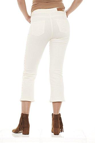Patrizia Pepe 8J0505 AS04 pantaloni donna con borchie Bianco