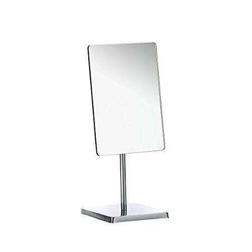 Axentia Specchio da Tavolo, Metallo, Argento, 16,5 x 37,5 x 14 cm